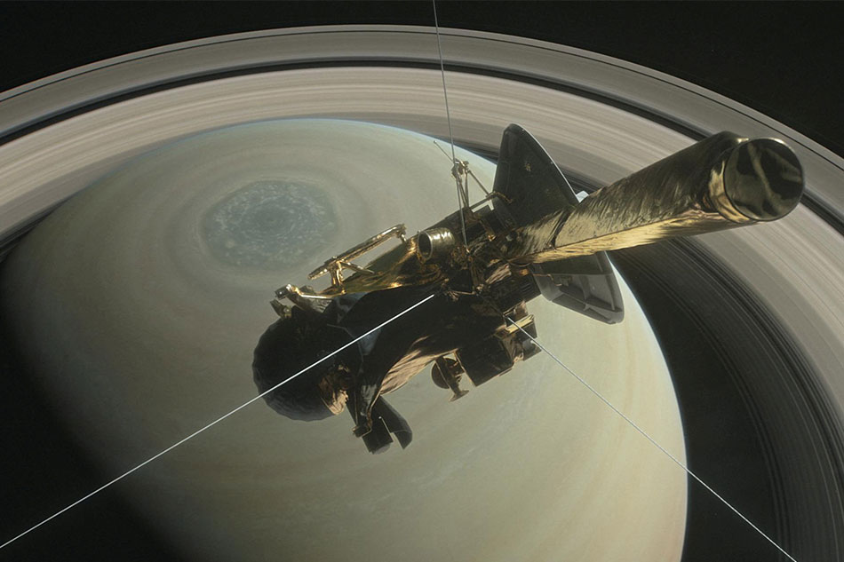 NASA bids farewell to Cassini satellite
