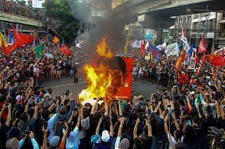 Ika-45 anibersaryo ng Marcos martial law, sinalubong ng protesta