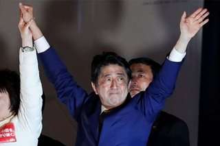 Japan PM Abe's ruling bloc on track for big win in election