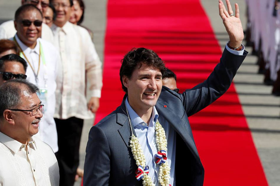 Canada's Trudeau in PH for ASEAN-Canada summit