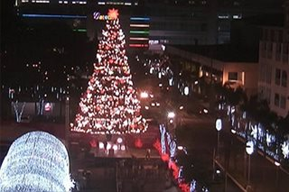 Higanteng Christmas tree, tunnel of lights, tampok sa Araneta Center