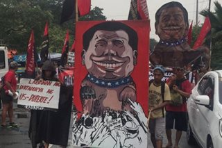 Mga militanteng grupo nag-rally sa Mendiola ngayong International Human Rights Day