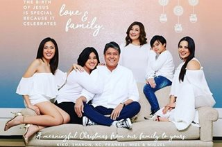LOOK: Sharon, Kiko share family's Christmas card