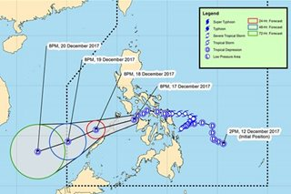'Urduja' maintains strength, moves towards Palawan
