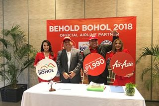AirAsia offers P1,990 fares to Bohol to boost tourism