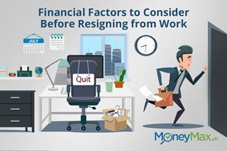 Financial Factors to Consider Before Resigning from Work