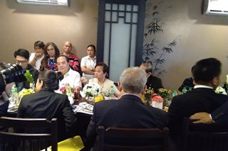 Arroyo meets with Chinese traders in Pampanga