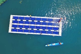 Renewable energy firm launches floating solar power farm in Rizal
