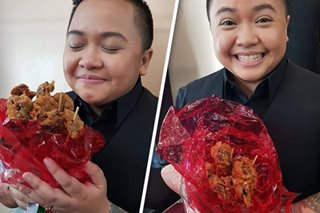 On day of hearts, Liza Diño gives husband Ice high-calorie 'bouquet'