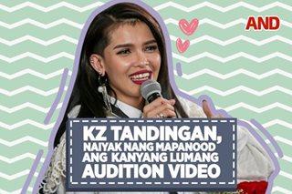 KZ Tandingan, naiyak nang mapanood ang lumang audition video