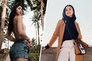 Barretto beauties: Julia in swimsuit, Claudia in layers for vacation