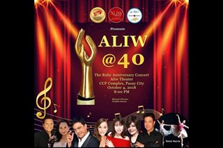 Aliw Awards mark 40th anniversary with concert