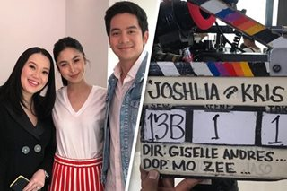LOOK: Cameras start rolling for JoshLia-Kris movie