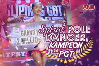 Spiral pole dancer, kampeon sa PGT
