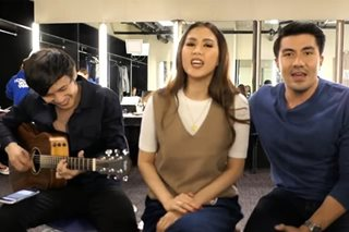 WATCH: Alex Gonzaga jams with Kean, Luis, Angeline