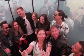 These lucky fans got to sing-along with the Backstreet Boys inside an elevator