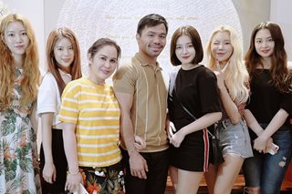LOOK: Manny and Jinkee Pacquiao with K-pop group Momoland