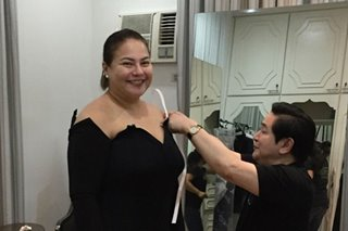 Paul Cabral designs Karla Estrada's gown for ABS-CBN Ball