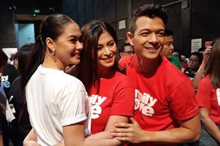 Where was Angel Locsin in 'Family is Forever' Christmas station ID?