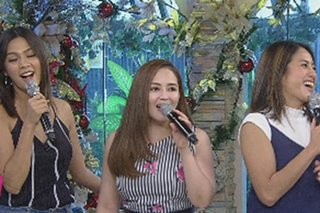 Jessa Zaragoza performs Christmas song with Gretchen, Ariella