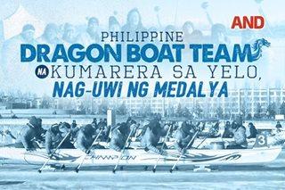 Philippine dragon boat team na kumarera sa yelo, nag-uwi ng medalya