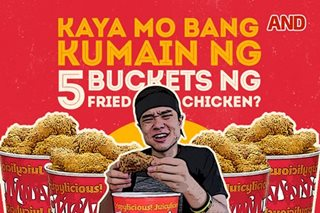 Kaya mo bang kumain ng 5 buckets ng fried chicken?