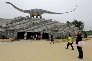 Skeletons and scares at Portugal's dinosaur park