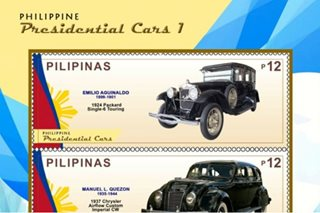 New stamp collection features PH Presidential cars