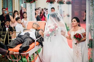 A father's love: Bedridden dad walks daughter down the aisle