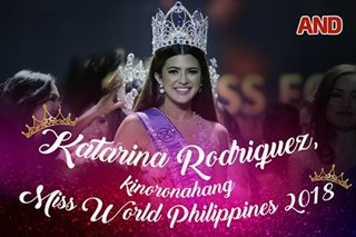 Katarina Rodriguez, kinoronahang Miss World Philippines 2018