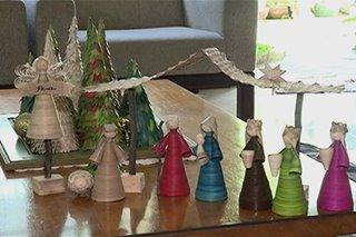 Christmas decorations na gawa sa buri, patok sa Sorsogon