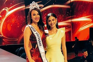 'This girl is on fire!' Pia, Margie, Gloria congratulate Catriona Gray
