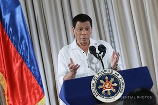 Duterte: PH won't be dragged into US wars