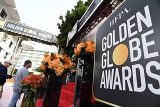 Hollywood gets party season started at glitzy Golden Globes
