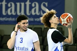 Ball brothers held scoreless in 2nd Lithuanian game