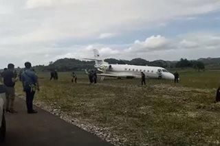 Chartered plane ng Bangko Sentral, sumadsad sa maling paliparan sa Albay
