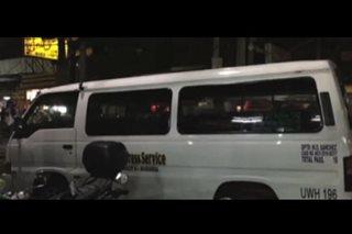 UV Express, hinoldap sa Maynila