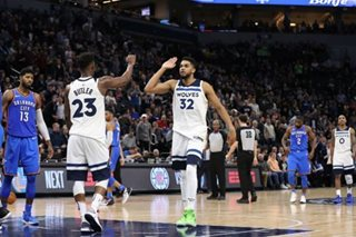 NBA: Butler leads Wolves over Thunder, 104-88