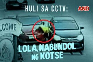 Huli sa CCTV: Lola, nabundol ng kotse