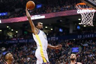 Late Durant basket thwarts huge Raptors rally
