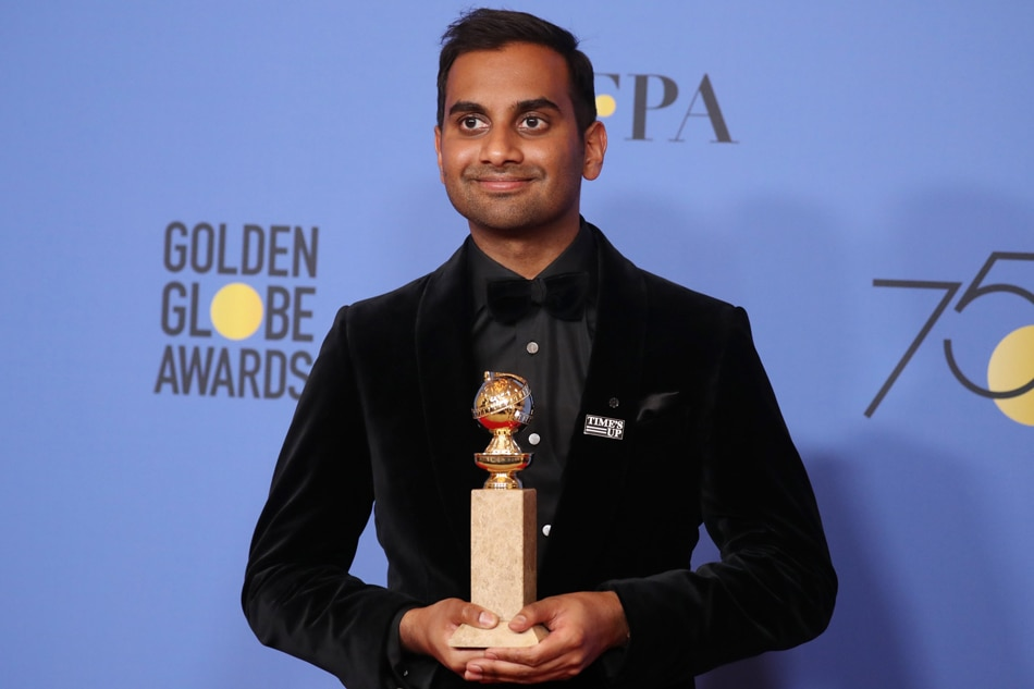 Aziz ansari responds to sexual misconduct allegations abs cbn news aziz ansari poses with the award for best performance by an actor in a television series musical or comedy for master of none reuters stopboris Gallery