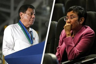 Duterte divides society, demonizes journalists amid virus: Ressa