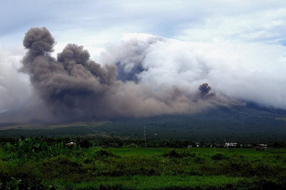 Lava Cascaded Down Philippines Volcano