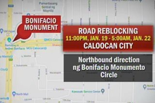 Ilang lugar sa QC at Caloocan, isasailalim sa road reblocking