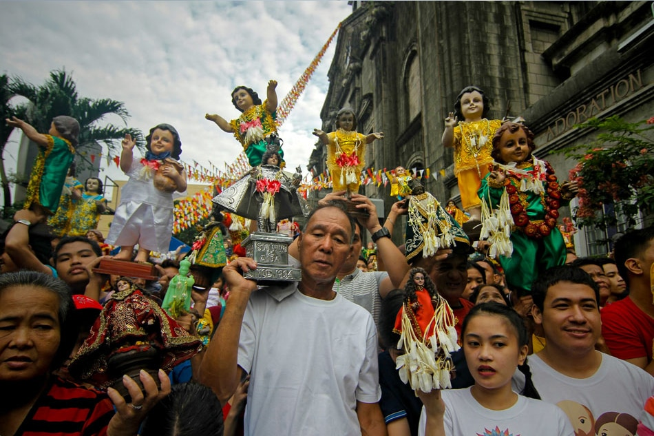 Santo Niño procession in Tondo