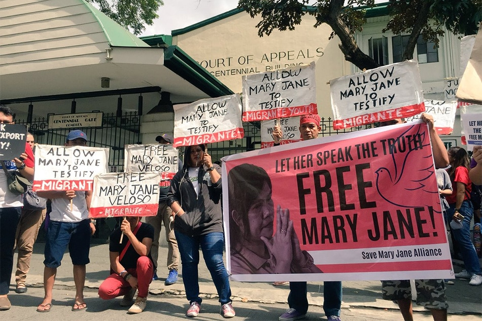 Let her speak': Mom protests order blocking Veloso testimony | ABS
