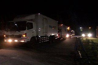 8 truck ng ballot boxes mula CamSur, pa-Maynila na
