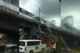 DOTr apologizes for inconvenience after smoke comes out of MRT train