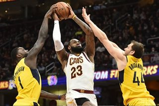 NBA: LeBron's triple-double leads Cavs past Pacers