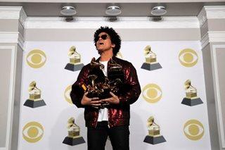 Fun-loving Bruno Mars divisive in his Grammy glory